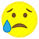 disappointed, emoji, face, hovytech, relieved, sad, unhappy icon