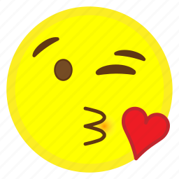 emoji, face, heart, hovytech, kiss, love, throwing icon