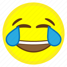 emoji, face, happy, hovytech, joy, tears, water icon