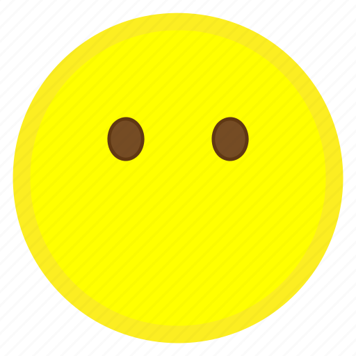 emoji, eye, face, hovytech, mouth, speechless, word icon