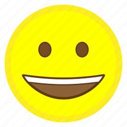 emoji, eye, face, grinning, hovytech, smile, teeth icon