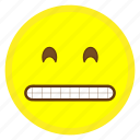 emoji, eyes, face, grinning, hovytech, smiling, teeth icon