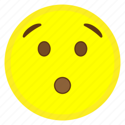 emoji, eye, face, hovytech, hushed, mouth, wow icon