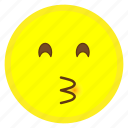 emoji, eyes, face, hovytech, kiss, kissing, smiling icon