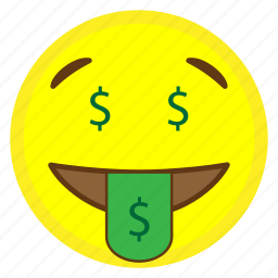 emoji, face, happy, hovytech, money, mouth, tongue icon