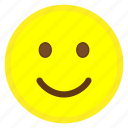 emoji, face, happy, hovytech, mouth, slightly, smiling icon