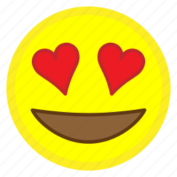 emoji, eyes, face, heart, hovytech, love, smiling icon