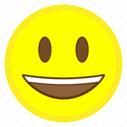 emoji, eye, face, hovytech, mouth, open, smiling icon