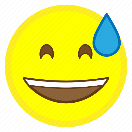 cold, emoji, face, hovytech, mouth, open, smiling icon