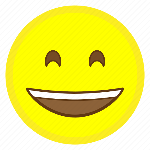 emoji, eyes, face, hovytech, mouth, smiling icon