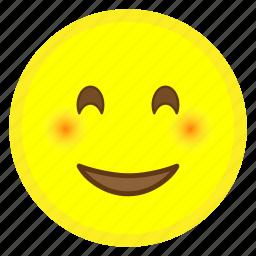 emoji, eyes, face, happy, hovytech, smiling icon