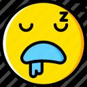 emoji, emoticons, face, sleeping icon