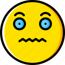 emoji, emoticons, face, scared icon