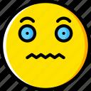 emoji, emoticons, face, scared