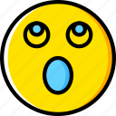 emoji, emoticons, face, surprised icon