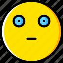 emoji, emoticons, face, sceptic icon