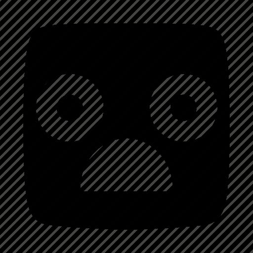 amaze, astonish, emoji, emoticon, gasp, shock, surprise icon