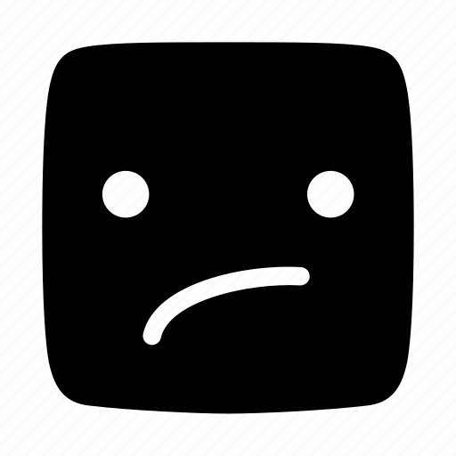 ambivalent, doubtful, emoji, emoticon, indecisive, irresolute, undecided icon