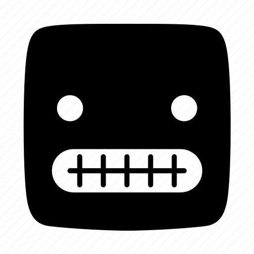 anxious, apprehensive, concerned, emoji, emoticon, emotion, worried icon