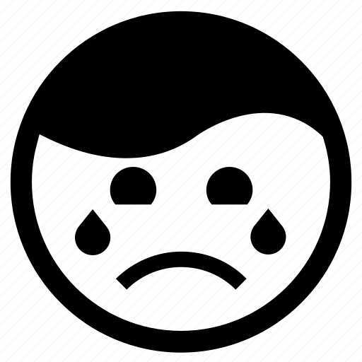 Cry, crying, depressed, emoji, emoticon, sad icon - Download on Iconfinder