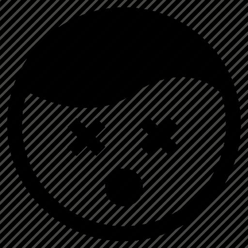 Dead, emoji, emoticon, sick, tired icon - Download on Iconfinder