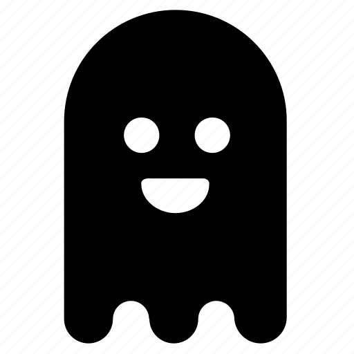 emoticon, face emoji, ghost, halloween, phantom, snapchat icon