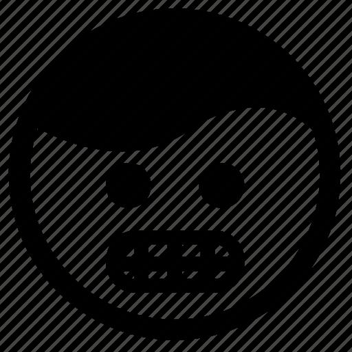 Emoji, evil, face, frustration, grin, teeth icon - Download on Iconfinder