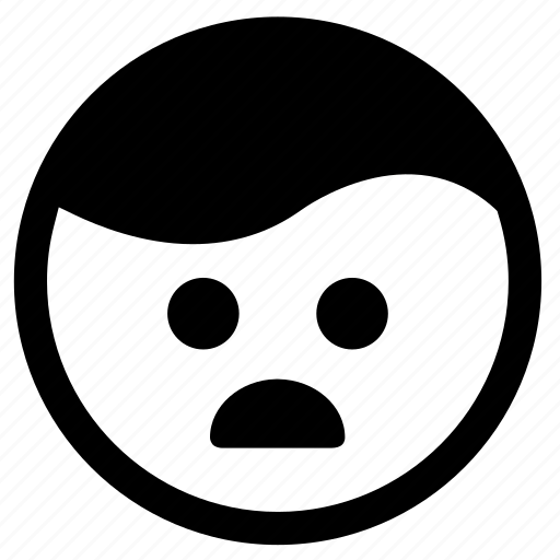 confusion, emoji, emoticon, face, shocked, surprise icon