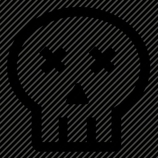 Danger, dead, death, emoji, pirates, skull icon - Download on Iconfinder