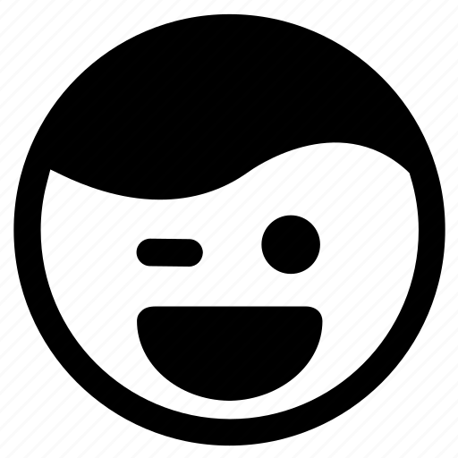 Emoticon, expression, face, joking, prank, smiley, wink icon - Download on Iconfinder