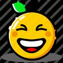 emoji, emoticon, expression, face, orange, smile, smiley