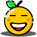 emoji, emoticon, expression, face, orange, smiley icon