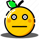 emoji, emoticon, expression, face, orange, worried icon