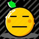 emoji, emoticon, emotion, expression, face, orange