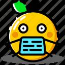 emoji, emoticon, expression, medical, sick, smile icon