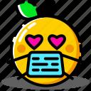 emoji, emoticon, expression, face, love icon