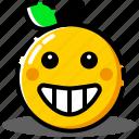 emoji, emoticon, expression, face, happy, smiley