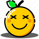 emoji, emoticon, expression, face, orange, sick, smile icon