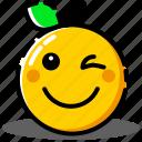 avatar, emoji, emoticon, expression, happy, orange, smiley