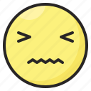 disgusted, emoji, emoticon, emotion, expression, face icon