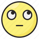 emoji, emoticon, emotion, expression, eyes, face, up icon