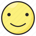 emoji, emoticon, emotion, expression, happy, satisfacted, smile icon