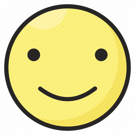 emoji, emoticon, emotion, expression, happy, satisfacted, smile icon