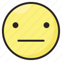 emoji, emoticon, emotion, expression, face, reactionless icon