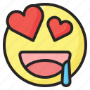 emoji, emoticon, eyes, happy, heart, love, smile icon