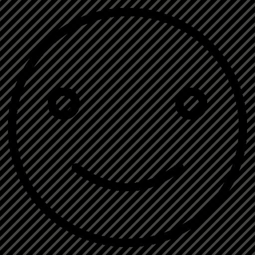 emoji, emoticon, emotion, face, happy, satisfacted, smile icon
