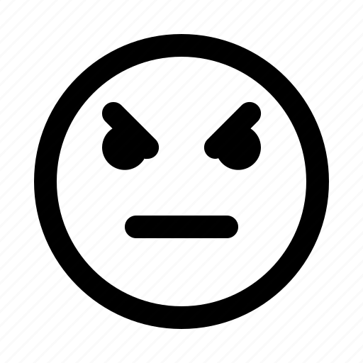 Angry, emoticon, emoji, emotion, expression, face icon - Download on Iconfinder