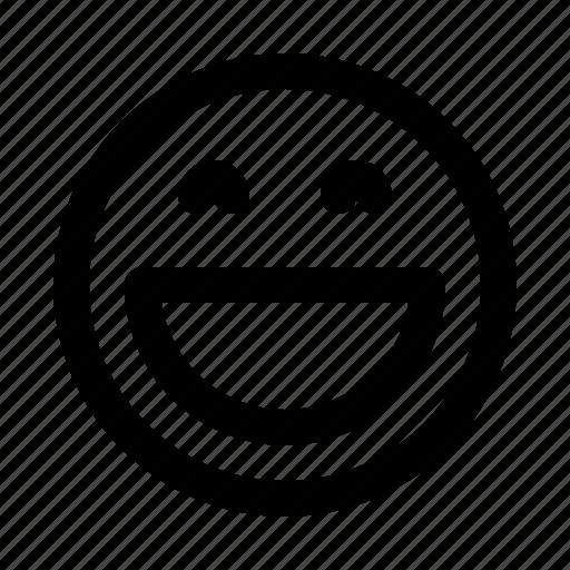 emoji, emoticon, emotion, face, laugh icon