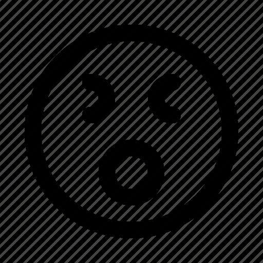 emoji, emoticon, emotion, expression, shock icon