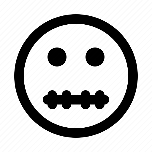 emoji, emoticon, emotion, expression, face, skeleton icon